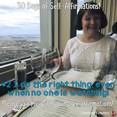 "30 Days of Self-Affirmations: Day 2: I do the right thing, even when no one is watching! For 30 days, I will be celebrating my own ""new year"" with self-affirmations. If you are interested in joining me, feel free to  write your own affirmations here, or  respond on my social media here: http://bit.ly/2JuKRWa"