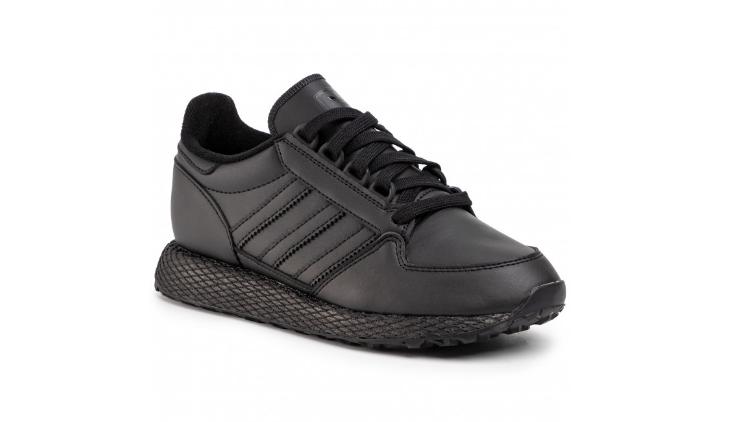 Adidasi cu platforma  inalta negri din piele eco adidas Forest Grove J EG8959