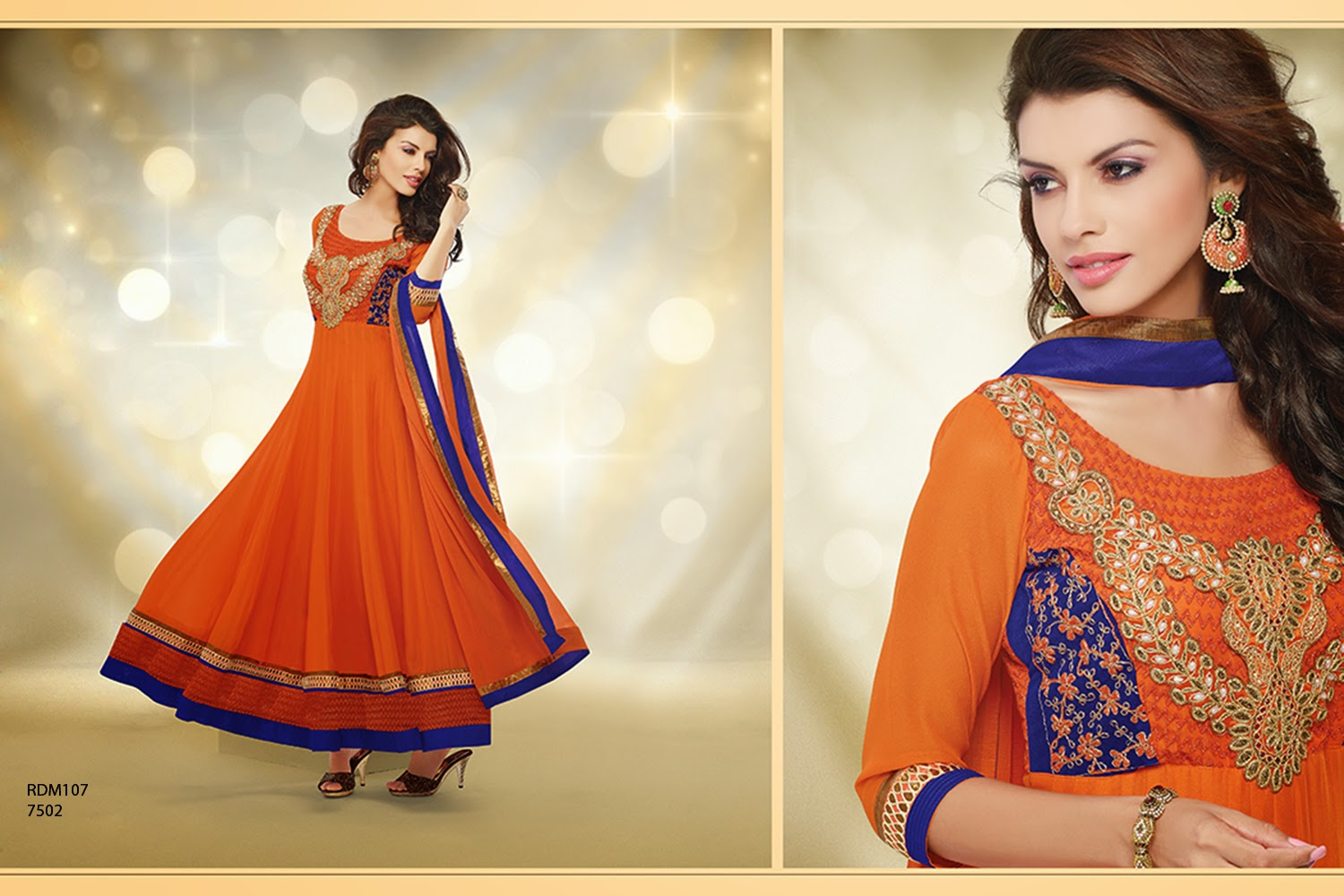 44efd87b82a5 New Designer Readymade Neck Embroidered Long Anarkali Suit
