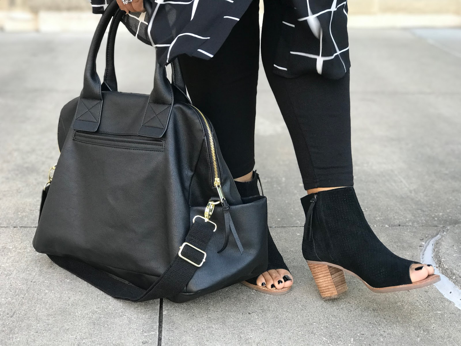 Image: Tangie Bell sharing her shoes, and quick OOTD