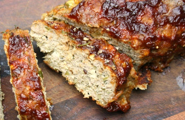 turkey meatloaf with feta and dill