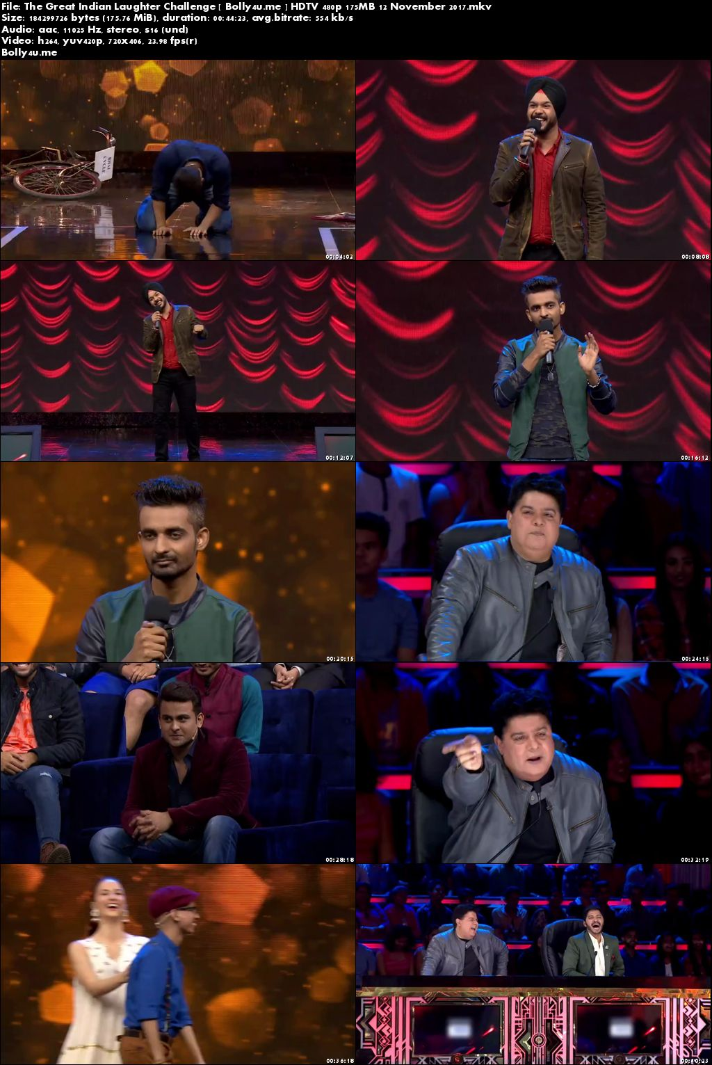The Great Indian Laughter Challenge Hdtv 480p 150mb 12 November 2017