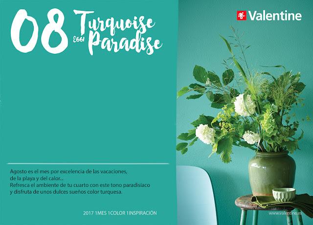 Agosto: Interiores en Azul Turquoise Paradise