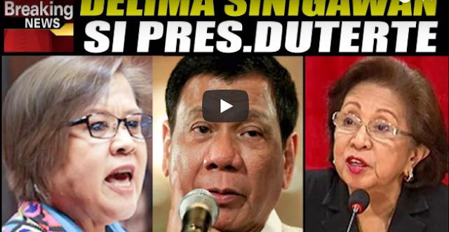 Hindi Masikmura Ang Binitawan Ni De Lima Laban Kay Presidente Duterte
