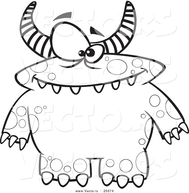 Monster Coloring Sheet Free Coloring Pages For Coloring Pages Draw Monsters