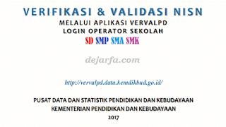 Verval PD dan NISN dejarfa.com