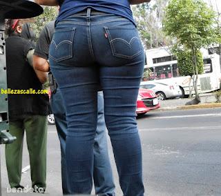 mujeres caderonas pantalón apretado