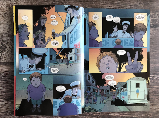 a page from graphic novel ice cream man