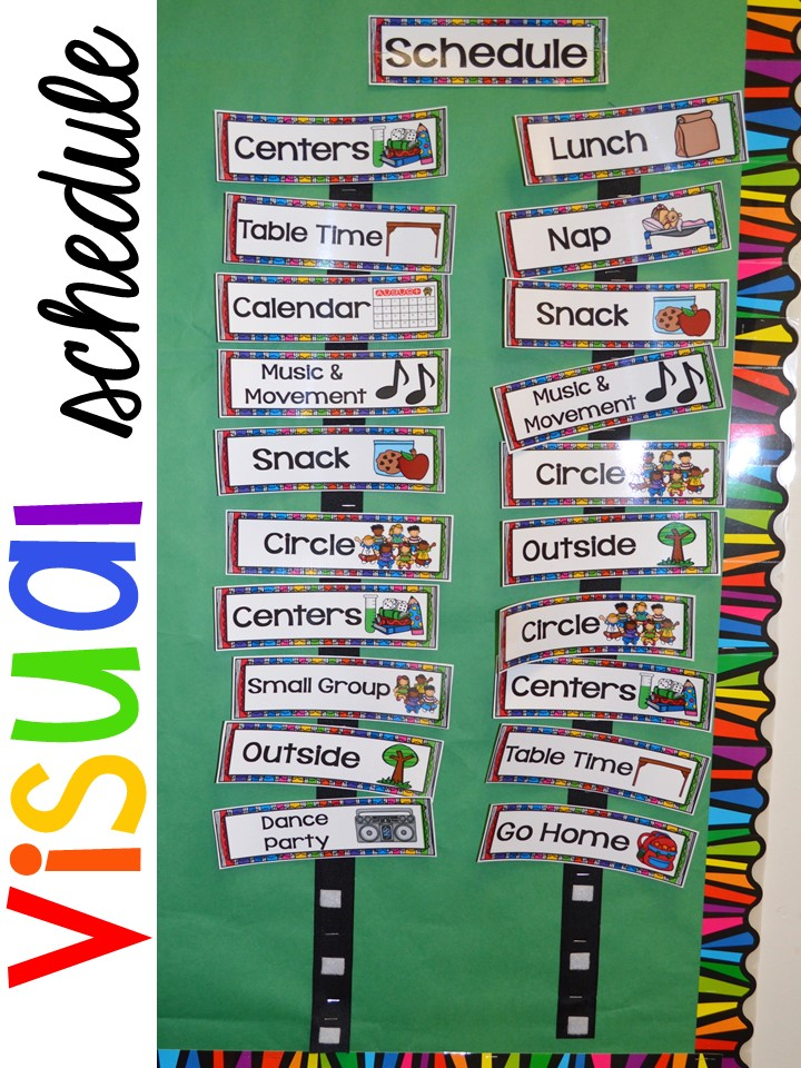 picture regarding Free Printable Visual Schedule for Preschool referred to as Preschool Every day Timetable and Visible Schedules - Pocket of