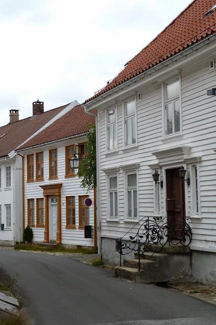 Noorwegen Fekkefjord Hollandse wijk