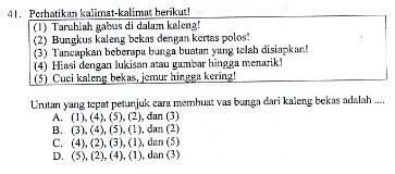 Soal US/UN Bahasa Indonesia SD Tahun 2016 Nomor 41-50 dan Kunci Jawaban beserta Pembahasannya