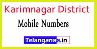Karimnagar District Officer Phone Numbers/Mobile Numbers Telangana-State