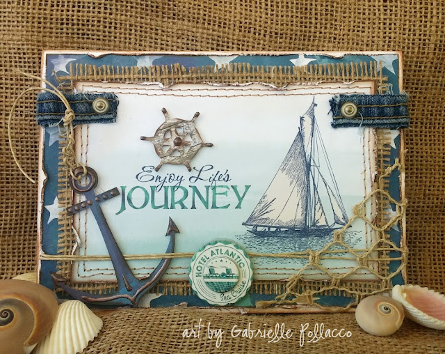 Nautical Cards made by Gabrielle Pollacco using the BoBunny Boardwalk collection papers and embellishments