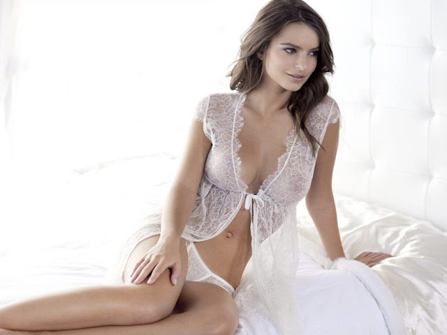 Emily Ratajkowski strips to racy styles for Princess Lingerie photoshoot
