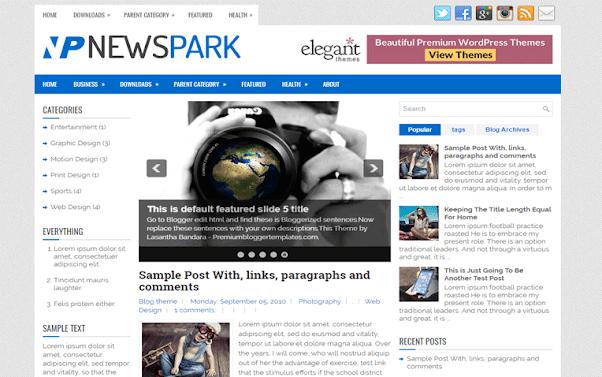 NewsPark Free Blogger Template