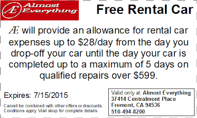 Coupon Free Rental Car June 2015