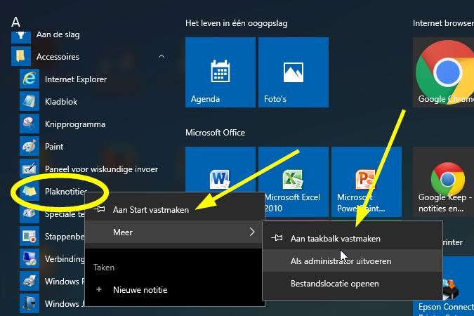 Edu curator weg met die papieren memoblaadjes gebruik de for Windows 7 bureaublad