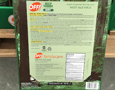 Costco 947886 - Get ready for the summer camping season with Off! Deep Woods Dry Insect Repellent