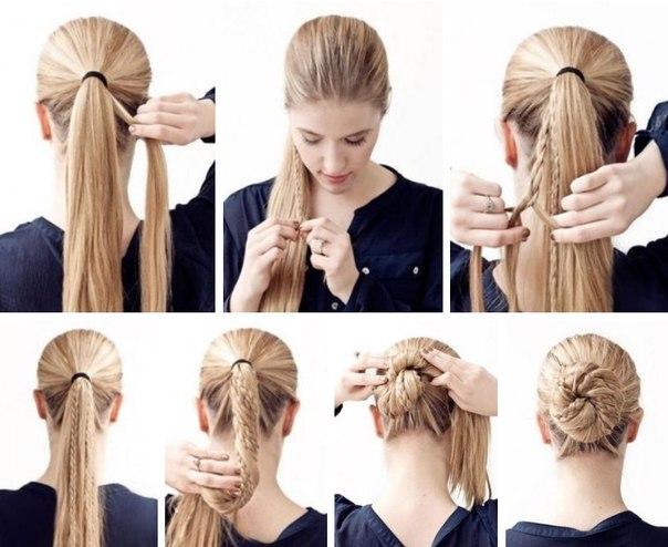 Fantastic Cute Braided Bun Hairstyle Tutorial Calgary Edmonton Montreal Hairstyles For Women Draintrainus