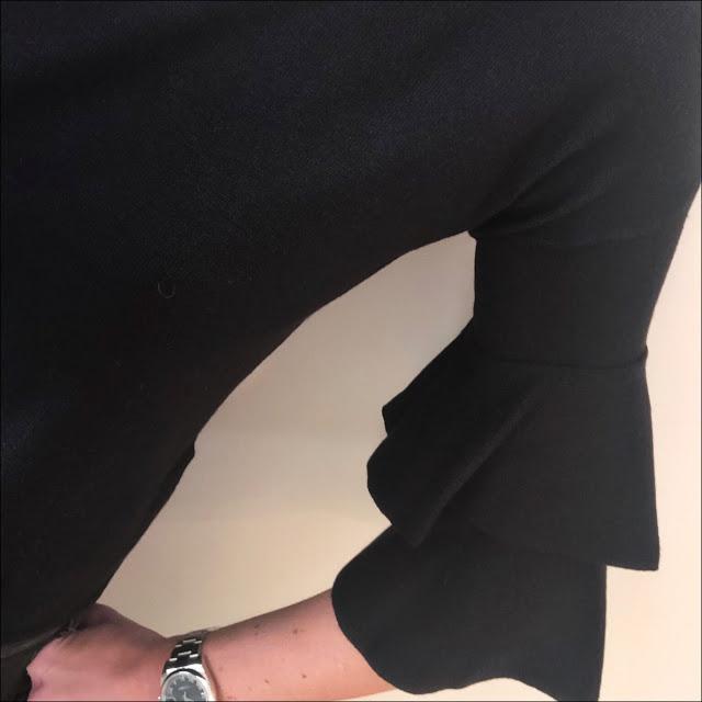 My Midlife Fashion, marks and spencer slash neck calypso ¾ sleeve jumper, the kooples studded belt, zara cigarette distressed jeans, zara leather biker jacket, golden goose deluxe superstar distressed leather calf hair trainers