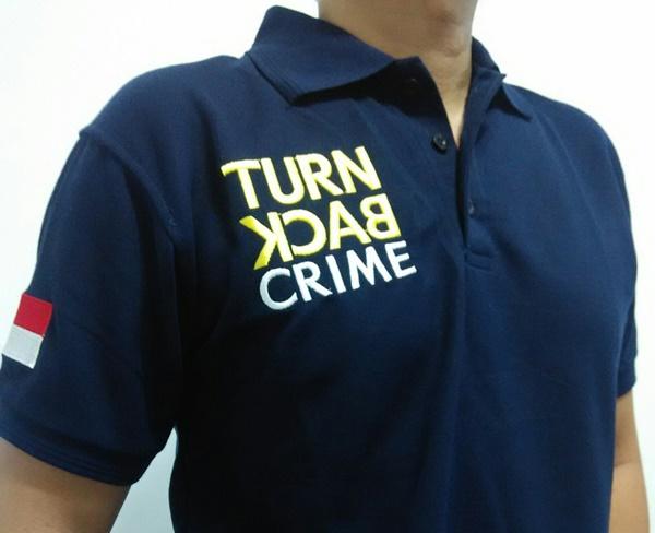 Larangan Memakai Kaos Turn Back Crime Bagi Umum