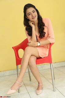 Rukshar Mir in a Peachy Deep Neck Short Dress 039.JPG