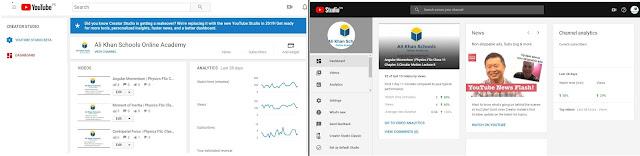 Difference between Youtube Creator Studio and Youtube Studio