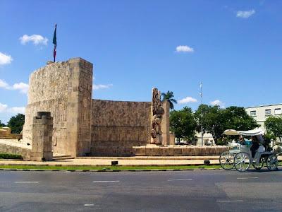 Monumento Patria Merida Yucatan Mexico