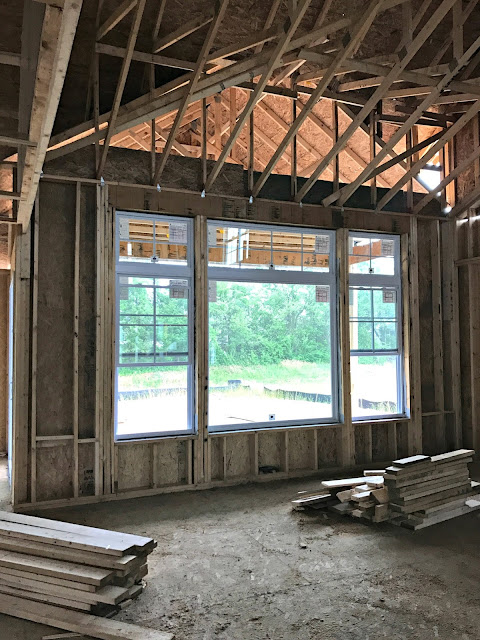 Large windows in family room