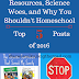Homeschooling Resources, Science Woes, and Why You Shouldn't Homeschool- The Top Five Posts of 2016