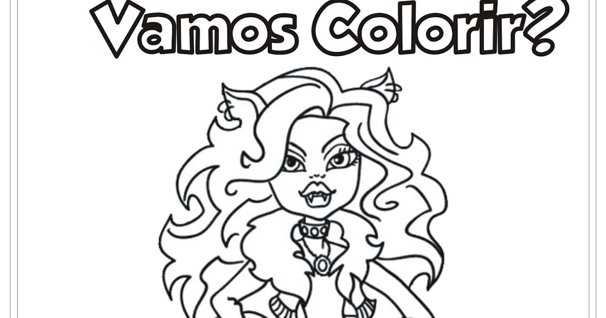 Monster High Desenho Para Colorir