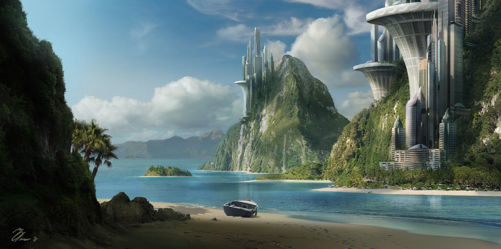 Martin oliver matte painting for Matte painting