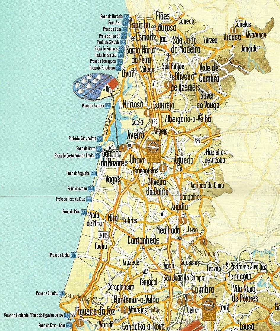 mapa da costa de prata portugal Chá de Limonete: Os MosKeteiros na Região da Costa de Prata mapa da costa de prata portugal