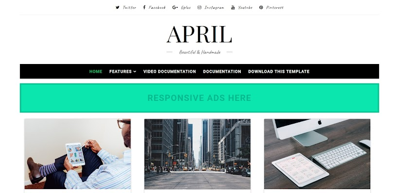 April Free Blogger Template