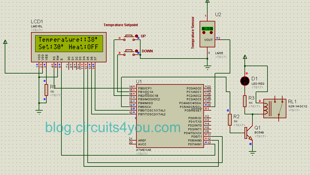 circuits4you com: AVR Microcontroller based Temperature