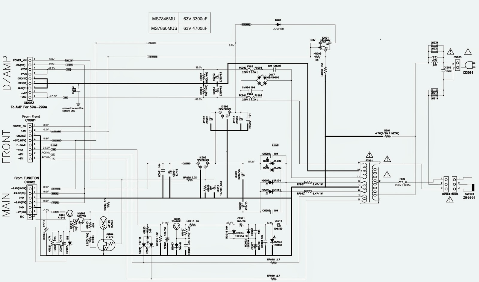 TOSHIBA MS 7845MU 60MUS SCHEMATIC Wiring diagram Schematic
