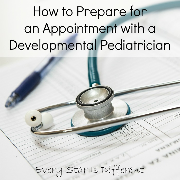 Preparing for an appointment with a developmental pediatrician