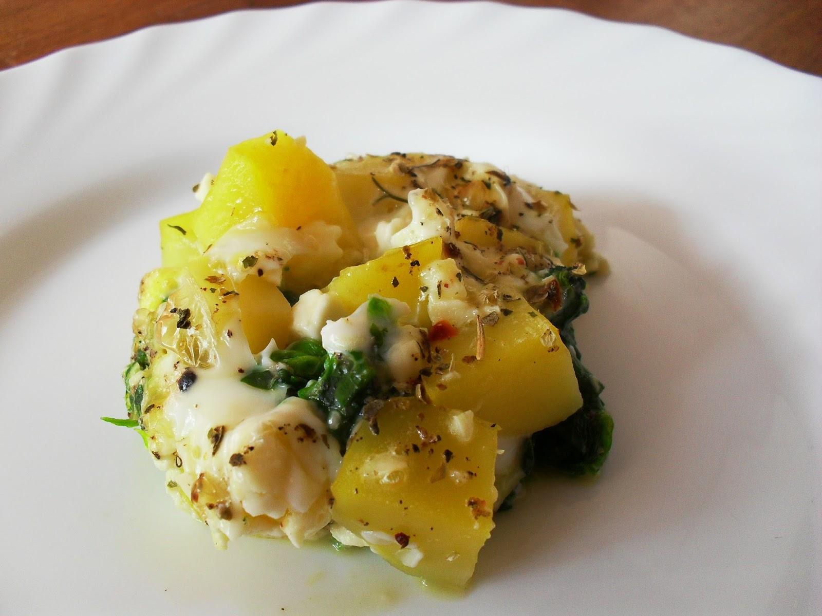 Gingers Hexenküche: Spinat mit Ei und Kartoffel mal anders