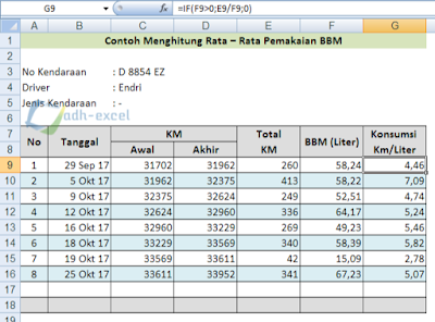 refined fuel oil report in excel with function IF