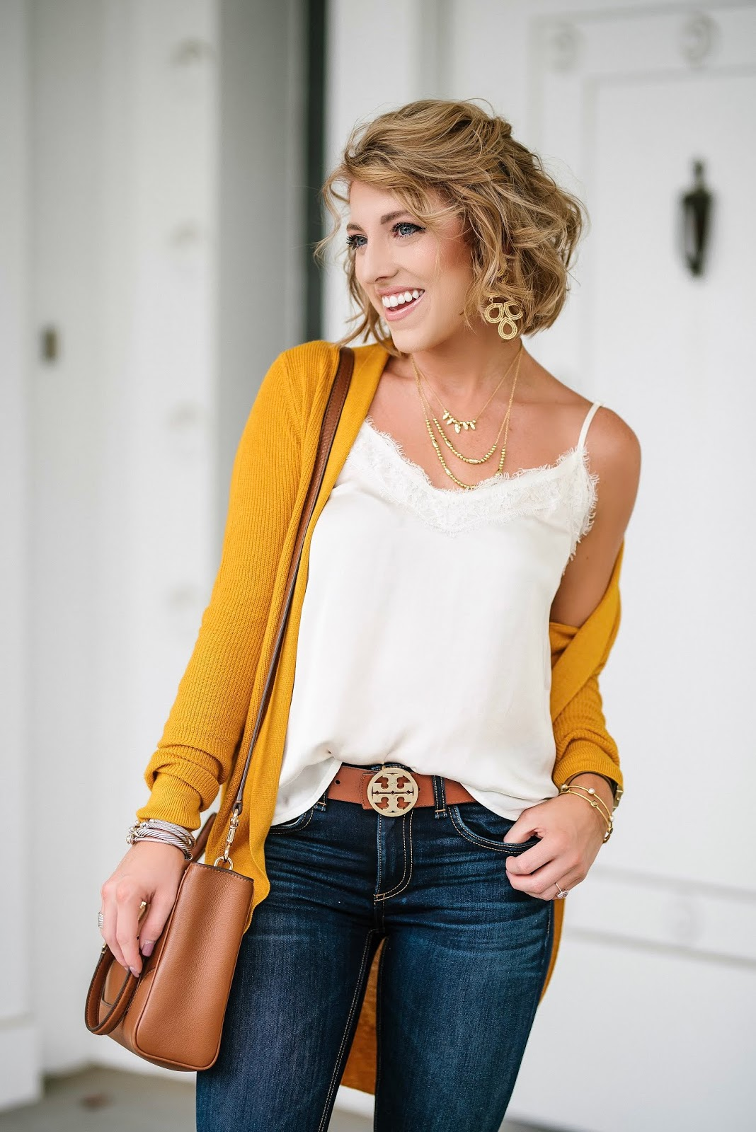 Under $30 Mustard Yellow Cardigan - Target Style! - Something Delightful Blog @racheltimmerman