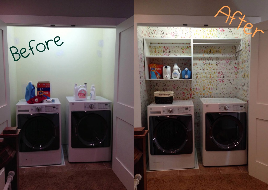 My Laundry Closet Makeover Before After