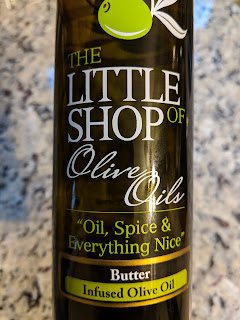 The Butter infused olive oil is great for making popcorn