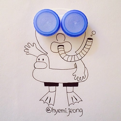 03-Diver-Hyemi-Jeong-Everyday-Things-to-Draw-With-www-designstack-co