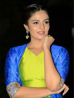 Srimukhi New Hot Blue Dress Photo Shoot