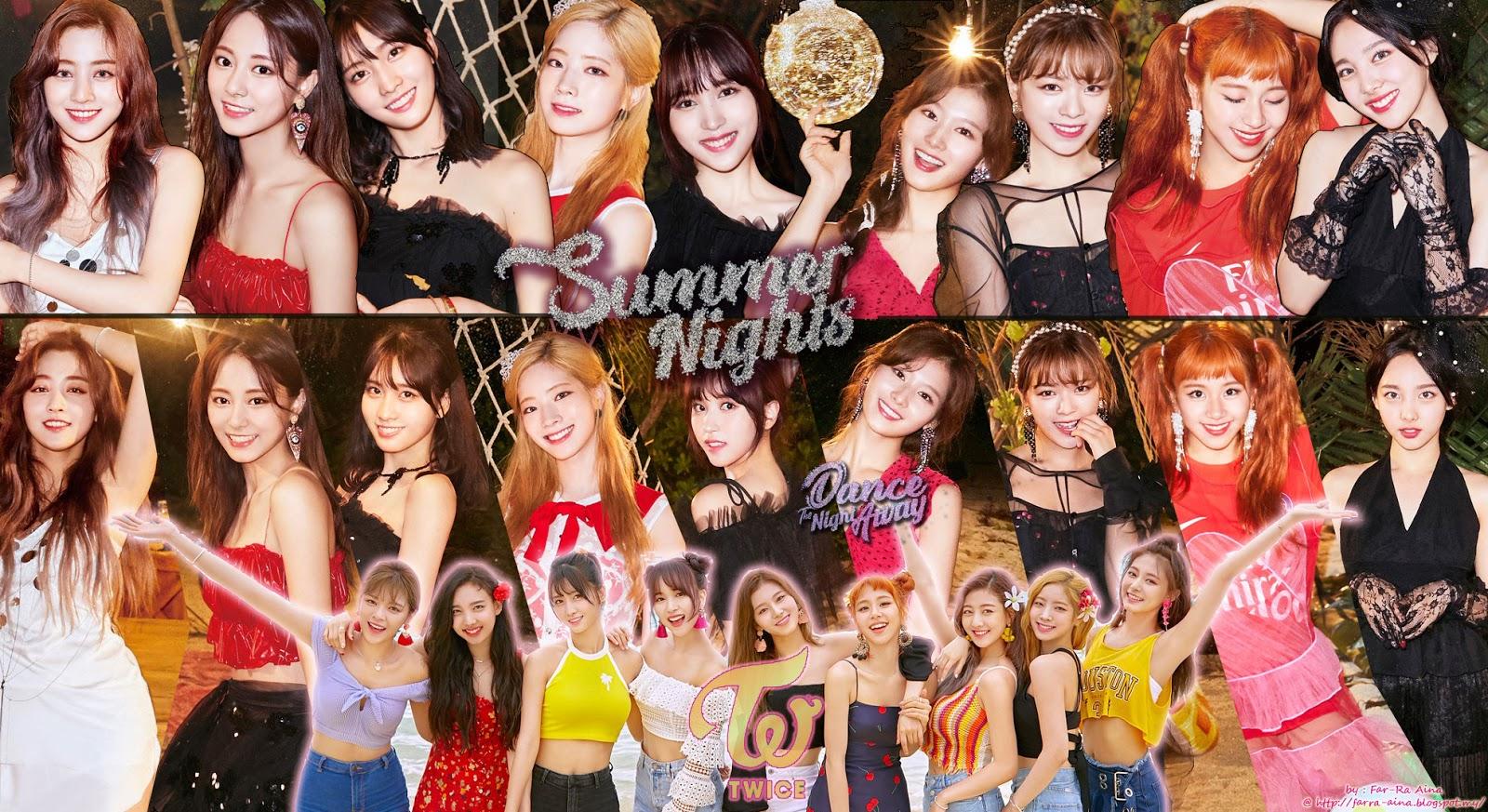K Pop Lover Twice Summer Nights Wallpaper
