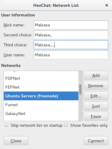 How To Join Registered Nickname to Freenode IRC with Hexchat