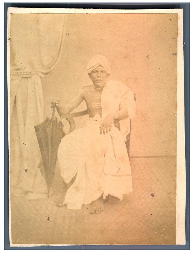 Indian Malabar Man Vintage Photograph - c1880's