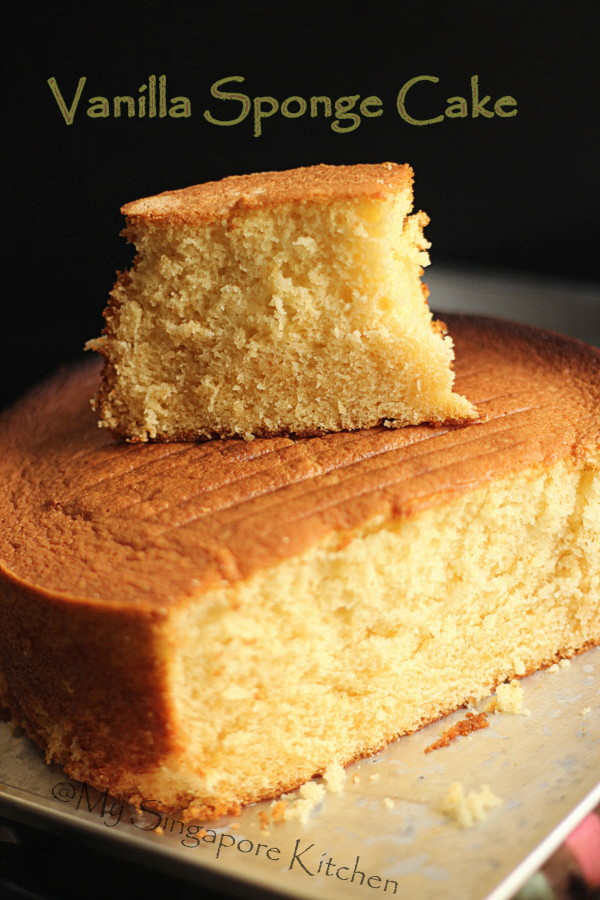 Pleasing My Singapore Kitchen Basic Vanilla Sponge Cake Personalised Birthday Cards Arneslily Jamesorg