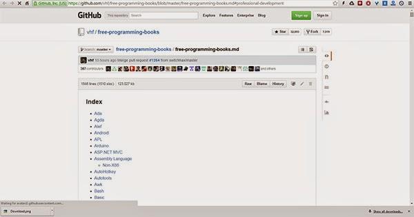 اليك أكثر من 500 كتاب في البرمجة جاهز للتحميل مجانا من github
