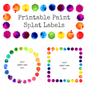 Editable Paint Splat Classroom Labels | you clever monkey